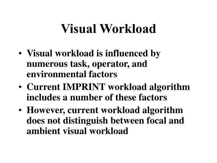 Visual Workload