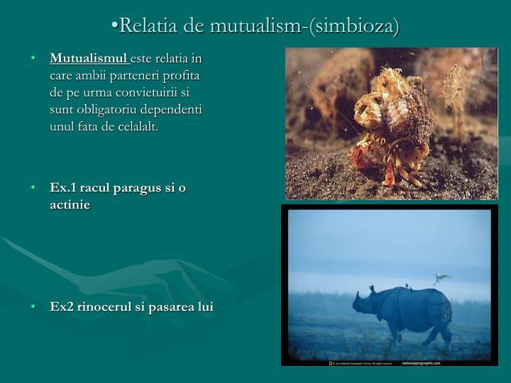 Relatia de mutualism-(simbioza)