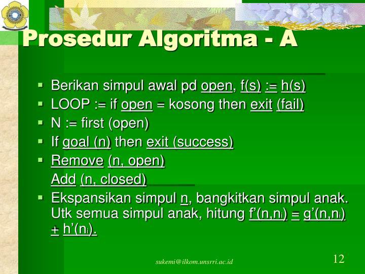 Prosedur Algoritma - A