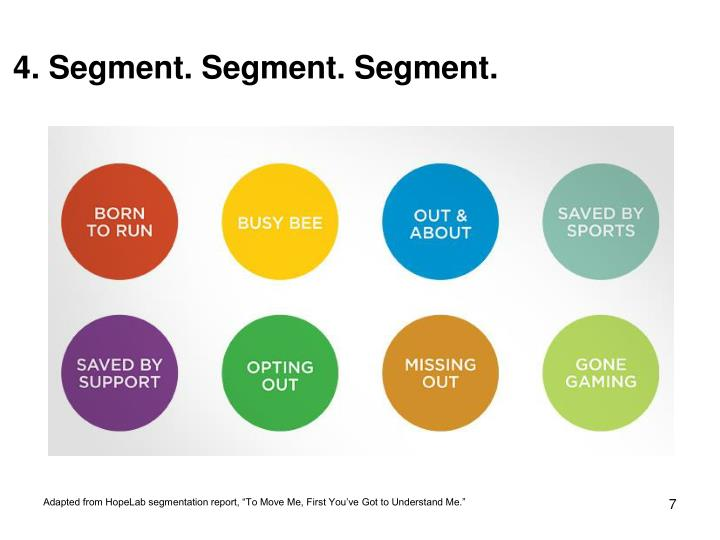 4. Segment. Segment. Segment.