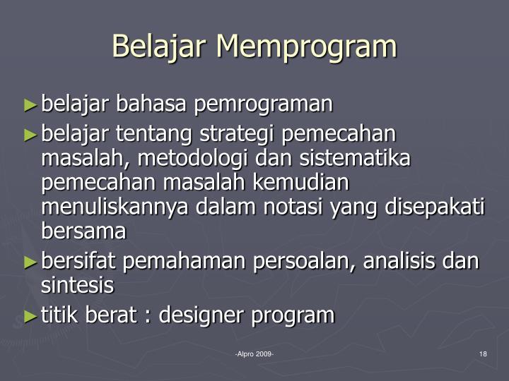 Belajar Memprogram