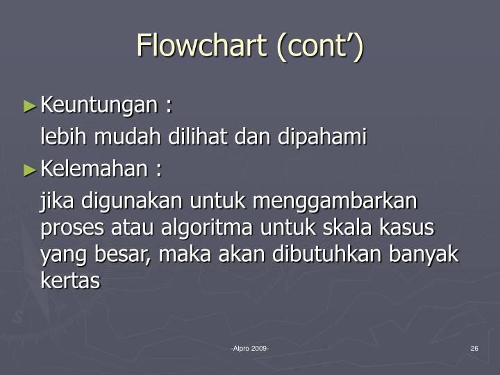 Flowchart (cont')