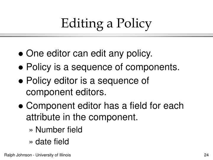 Editing a Policy