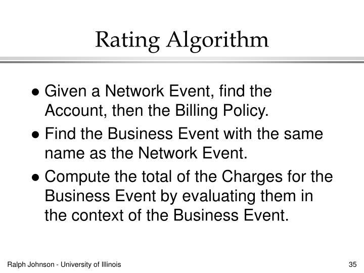Rating Algorithm