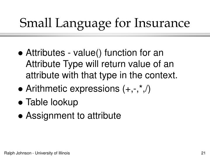 Small Language for Insurance