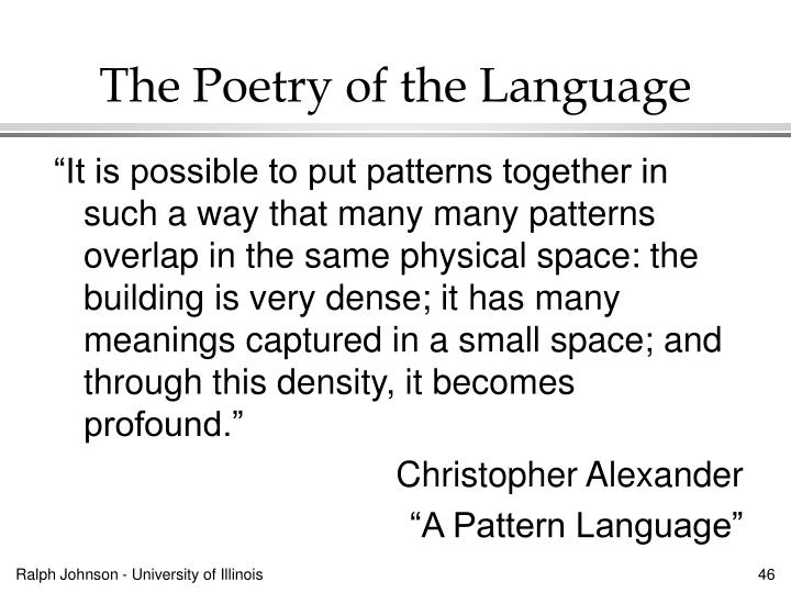 The Poetry of the Language