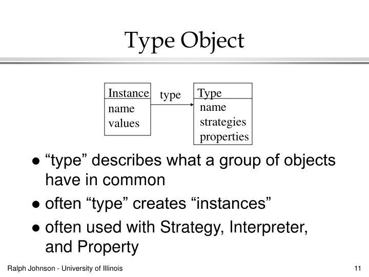 Type Object