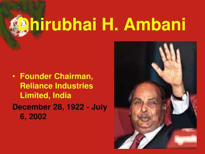 Dhirubhai H. Ambani