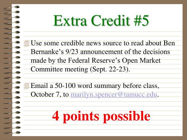 Extra Credit #5