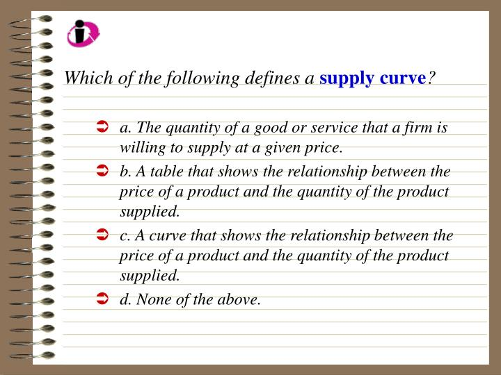 Which of the following defines a
