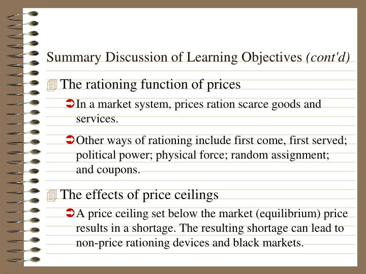 Summary Discussion of Learning Objectives