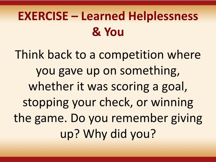 EXERCISE –