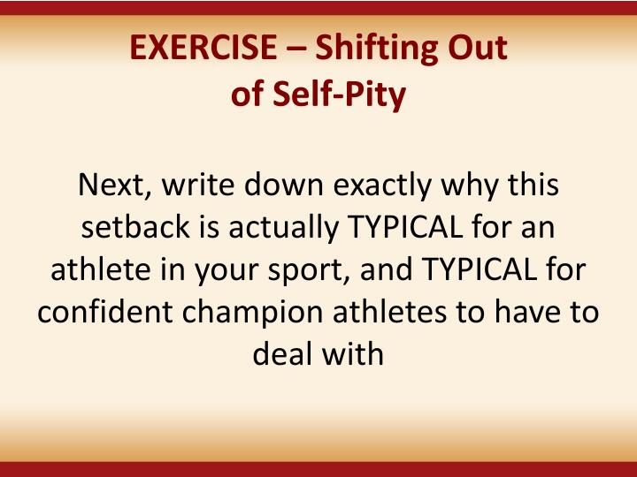 EXERCISE  Shifting Out