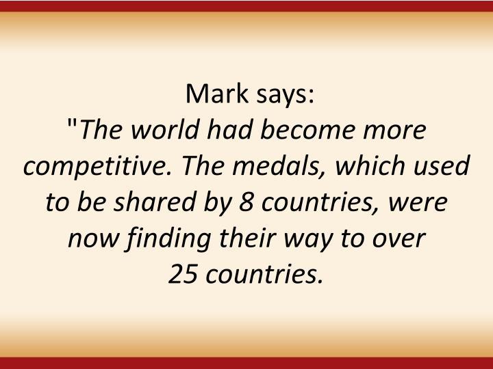 Mark says: