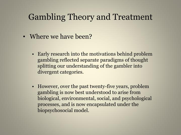 pathological gambling intervention essay Outline biological interventions for gambling (5) - no drug has yet been approved for use in the uk to treat pathological gambling - one biological intervention.