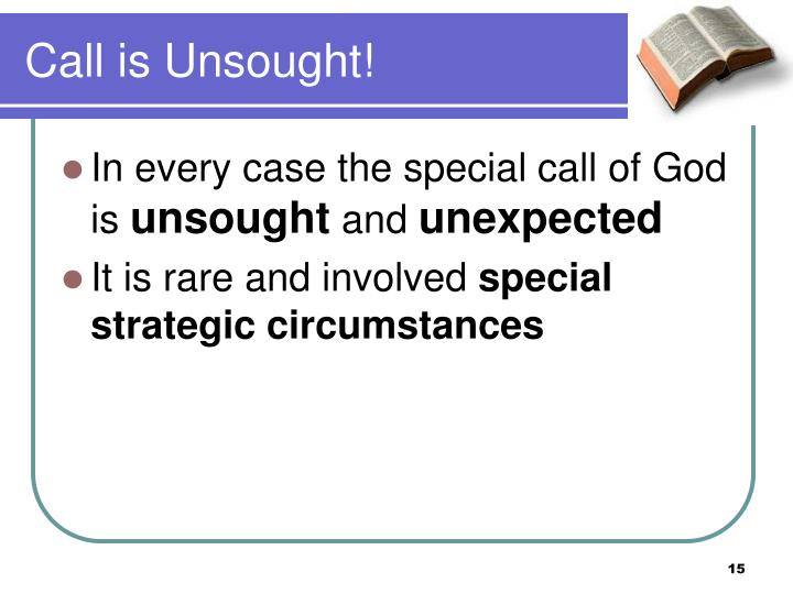 Call is Unsought!