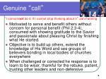 genuine call