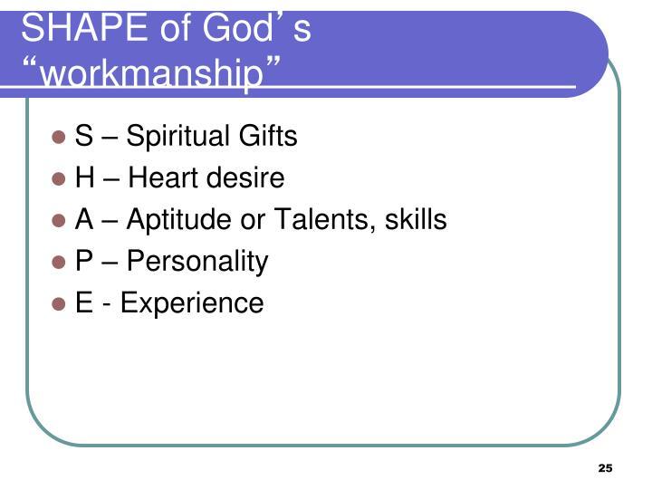 SHAPE of God