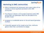 marketing to bme communities