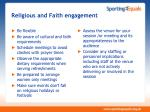 religious and faith engagement