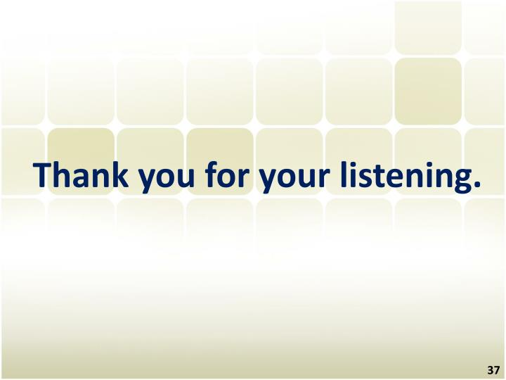 Thank you for your listening.