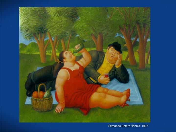 "Fernando Botero ""Picnic"" 1997"