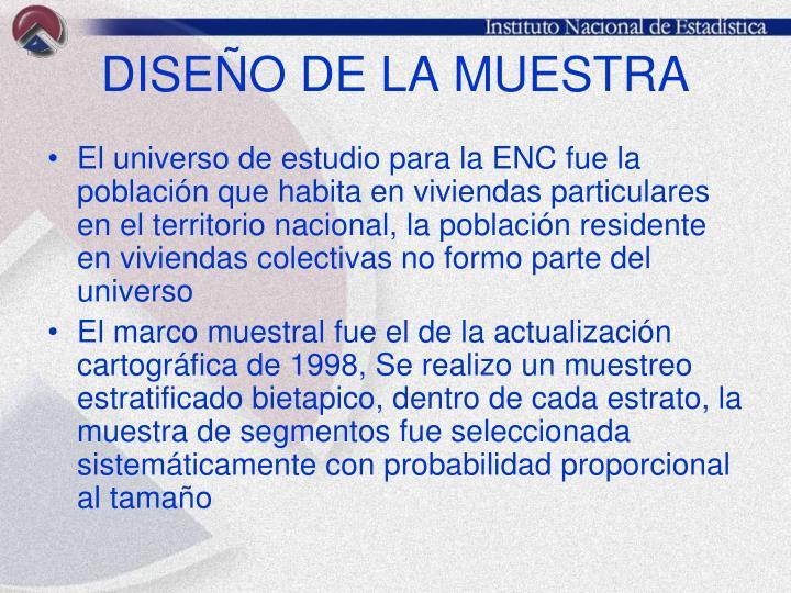 DISEÑO DE LA MUESTRA