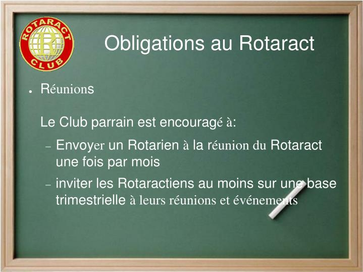 Obligations au Rotaract