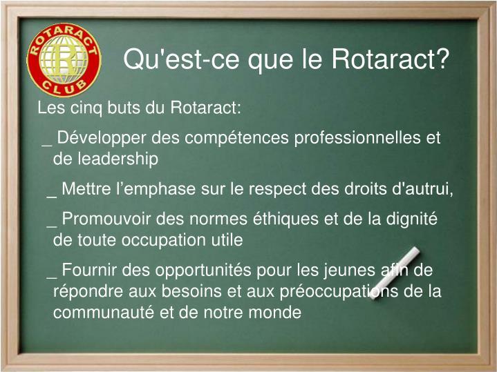 Qu'est-ce que le Rotaract?