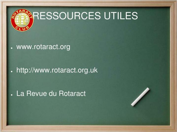 RESSOURCES UTILES