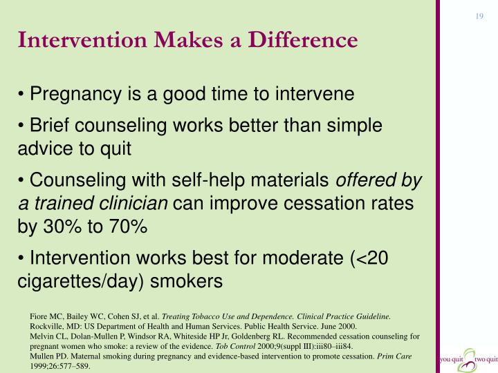 Intervention Makes a Difference