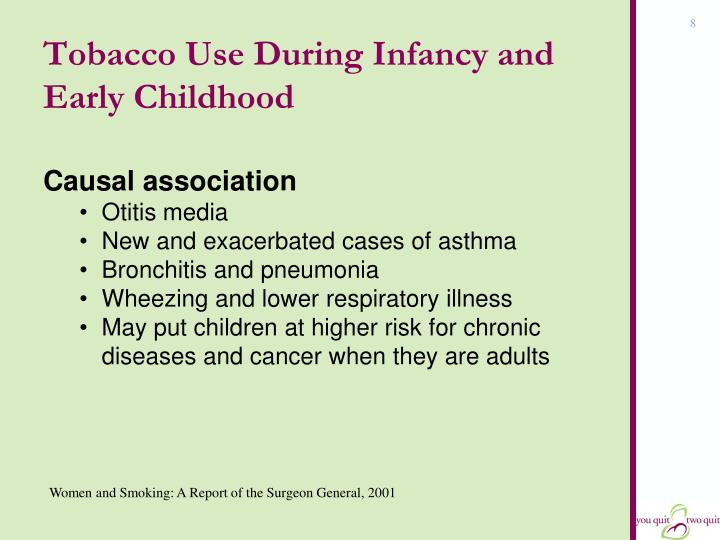 Tobacco Use During Infancy and