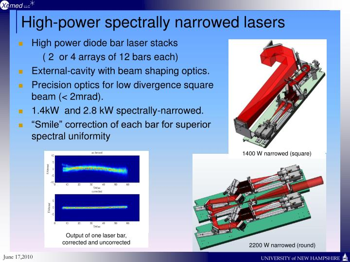 High-power spectrally narrowed lasers