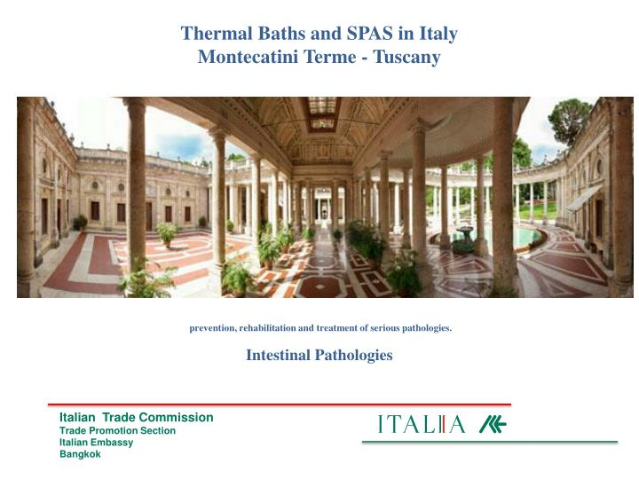 Thermal Baths and SPAS in Italy