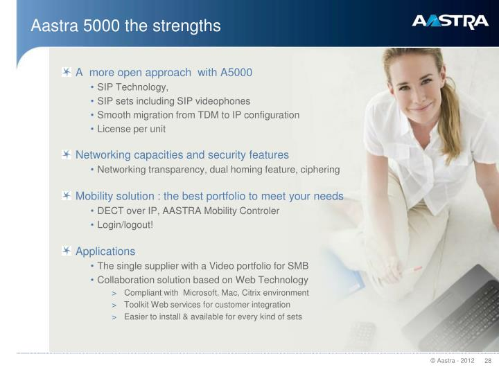 Aastra 5000 the strengths