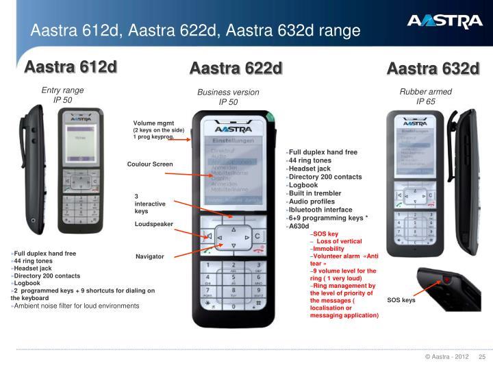 Aastra 612d, Aastra 622d, Aastra 632d range