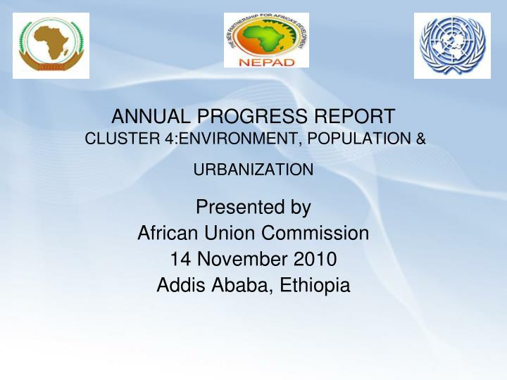 annual progress report cluster 4 environment population urbanization