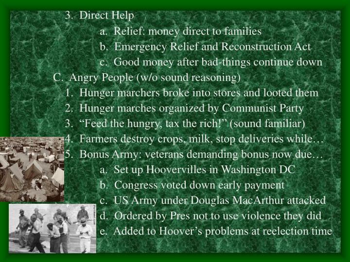 3.  Direct Help