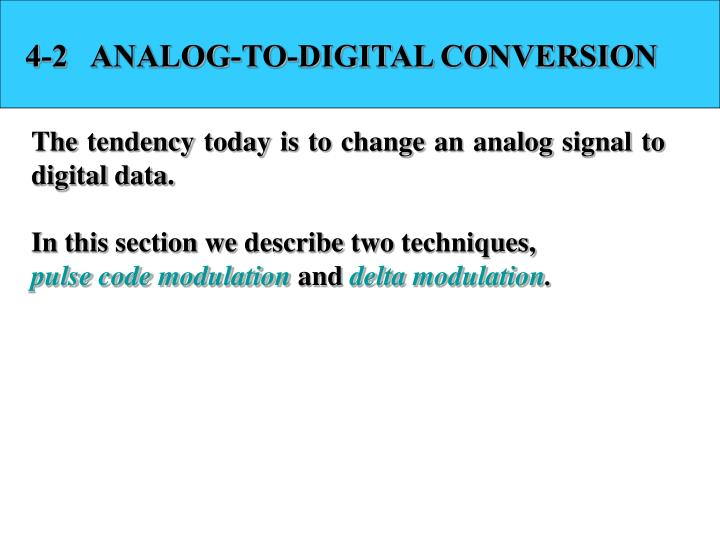 4-2   ANALOG-TO-DIGITAL CONVERSION