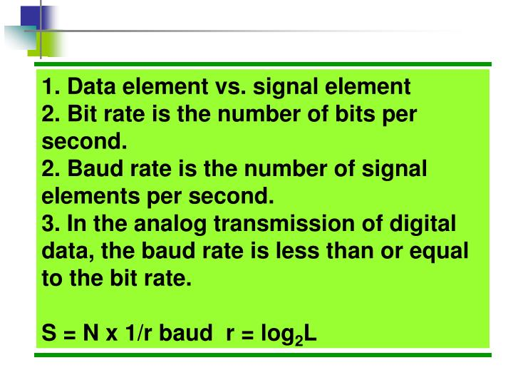 1. Data element vs. signal element