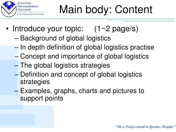 Main body: Content