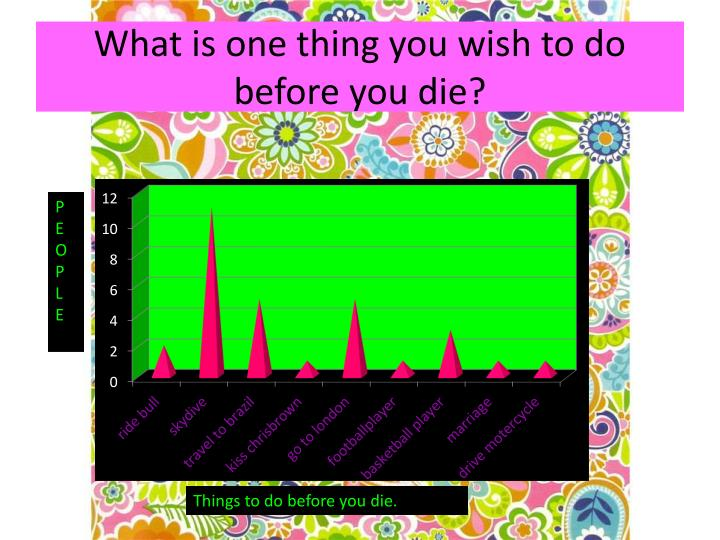 What is one thing you wish to do before you die?