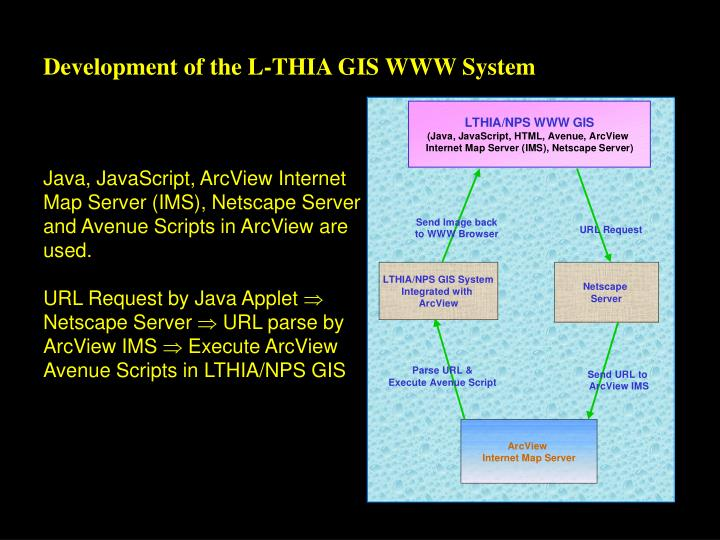 Development of the L-THIA GIS WWW System