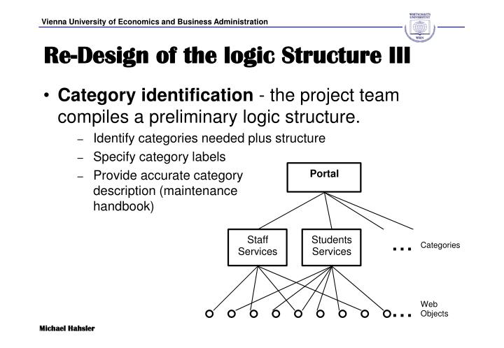 Re-Design of the logic Structure III