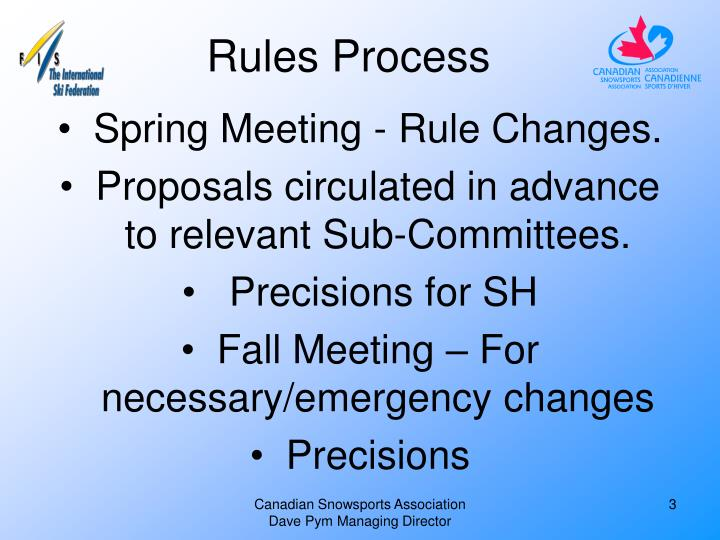 Rules Process