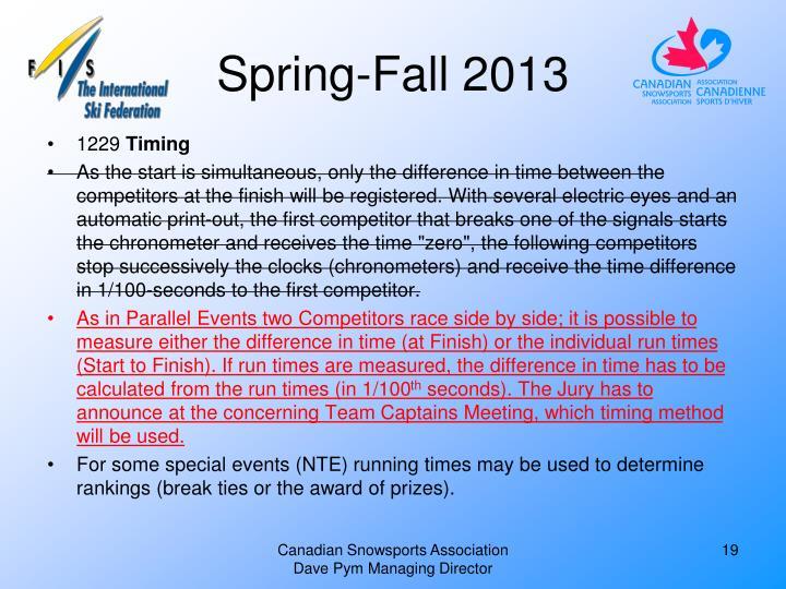 Spring-Fall 2013