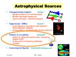 astrophysical sources