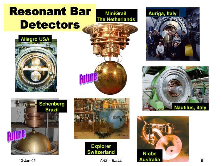 Resonant Bar Detectors