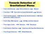 towards detection of gravitational waves