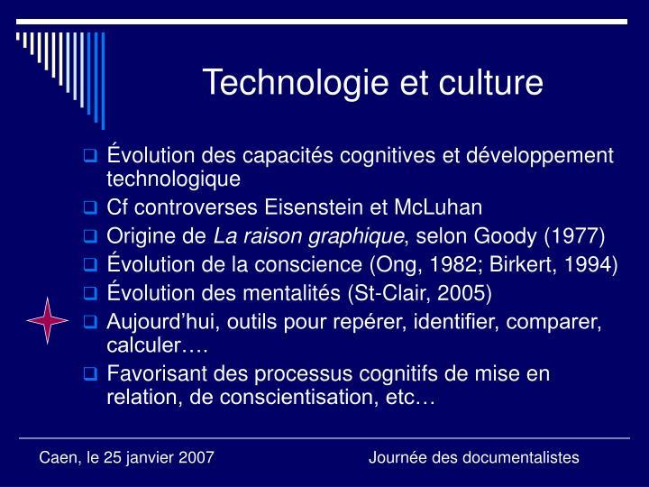 Technologie et culture